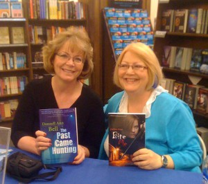 At a booksigning with writer friend Donnell Ann Bell.